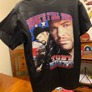 TOBY KEITH 2004 tour colorful tee shirt